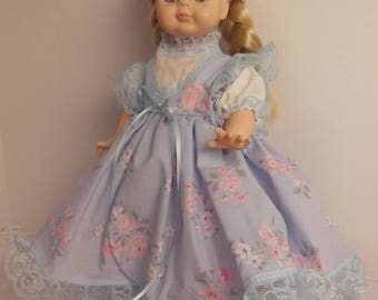 "Blue floral Dress Set for 14"" Vogue Littlest Angel Dolls"
