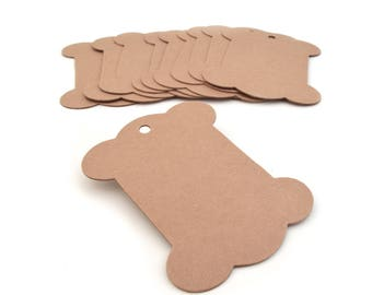 Set of 10 kraft tags