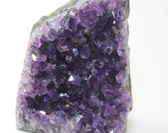 Amethyst Purple Crystal Healing Beautiful Chunk Piece G.8 Free Standing Bookend
