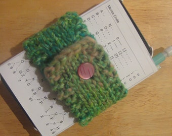 High/Low Tech Caddy knitting pattern