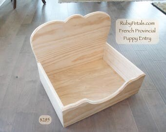 French Provincial Dog Bed with Puppy Entry  and DIY Paint