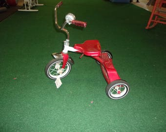 "Vintage ""Roadmaster"" childrens red tricycle"