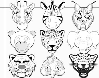 Print coloring mask | Etsy
