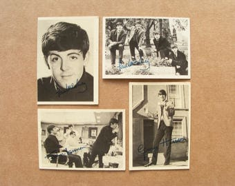 The Beatles trading cards, photo print 1960s, A&BC Chewing gum Nems Enterprises, bubble gum trading cards