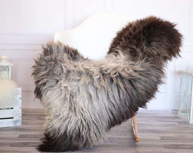 Sheepskin Rug | Real Sheepskin Rug | Shaggy Rug | Scandinavian Rug | Sheepskin Throw Gray Brown Sheepskin | SCANDINAVIAN DECOR | #JANHER35