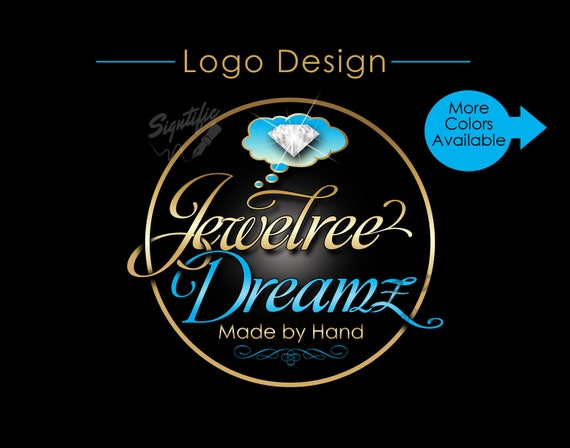 Custom Logo Design, Jewelry Logo, Diamond Logo, Logo, Round Logo Design, Circular Logo, Diamond Bling Logo, Image Logo, Business Logo Design