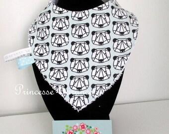 Bear origami and Terry cotton bandana bib