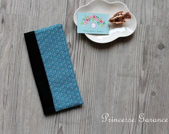 Family book cover - Cotton teal saki