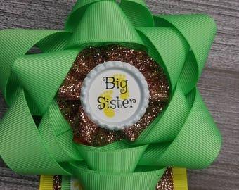 Big Sister Jungle theme babyshower pin