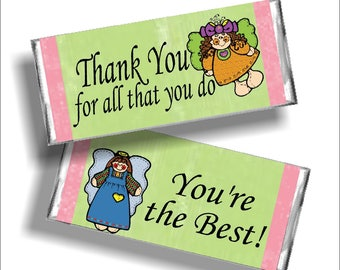 Angel Thank You Candy Bar Wrapper Printable
