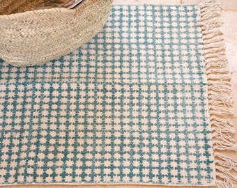 Small rugs, area rug, bathmat, turquoise rug, woven rug, kitchen rugs, home living rug, contemporary rug, area rugs for sale, Bohemian rugs