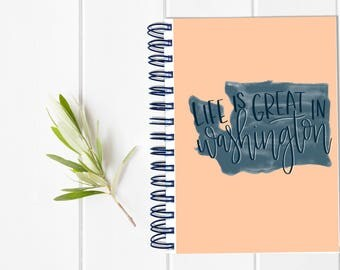 Small Undated Inspirational Motivational Planner - One Year Fill in Calendar Planner - Weekly Planbook - Monthly Washington Schedule Sister