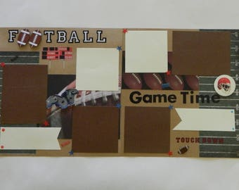Premade Football pages,12x12 Pages,Boy Scrapbook page,Premade Pages,sports pages ,Ready to Ship Pages