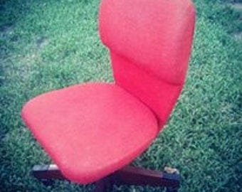 Vintage orange office chair
