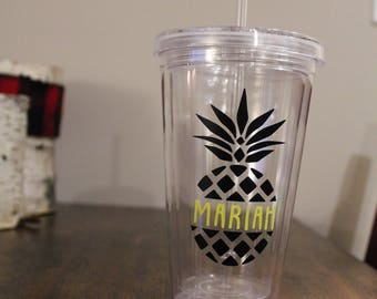 Personalized Pineapple Cup