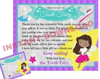 Dark Skin Tooth Fairy Letter