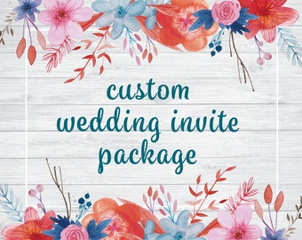 Custom Wedding Invitation Package