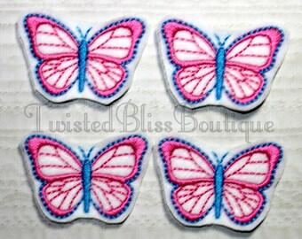 Set Of 4 Butterfly Felties