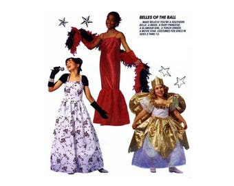 Girl's Costume Sewing Pattern, Bride, Southern Belle,Fairy Princess, Torch Singer and Fashion Doll Child Size 7, 8 Uncut McCall's 7345