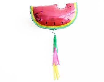 Watermleon Fruit Balloon - Tutti Frutti Food Balloon Tassels