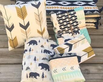 Woodland Nursery Bedding, Crib Bedding, Crib Bed Set