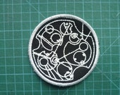Gallifreyan Patch Embroidered Sew on Patch Fabric Badge Patches The Dr's name Glow in the dark. Dr Who doctor who's name gallifrey whovian