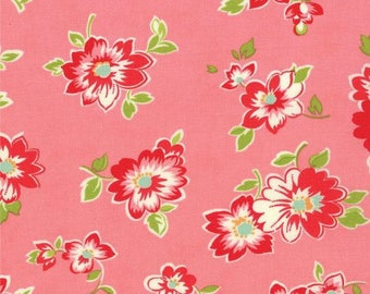 Scrumptious Pink Medium Floral by Bonnie and Camille for Moda Fat Quarter OOP HTF