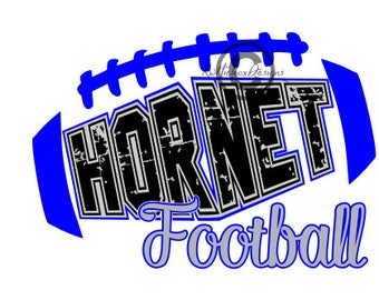 Hornet Football Svg, Distressed Football Svg, Football Dxf, Football Eps, Distressed Hornet Svg