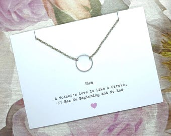 A Mothers Love Necklace Gift - Mother Mum Gift- Mums Birthday - Personalised -  Gift For Her