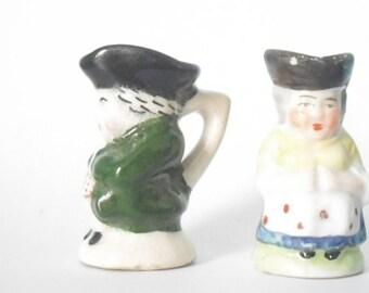 miniature Devonmoor toby jug character and friend