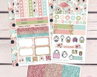 Flamingo Personal Size Kit / Planner Stickers