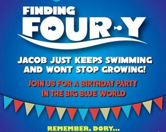 Finding Dory Nemo Birthday Invitation