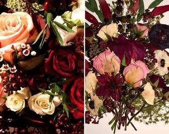 Custom Pressed Wedding Bouquet Flowers Artwork Bride Gift Picture Marriage Bridal Groom