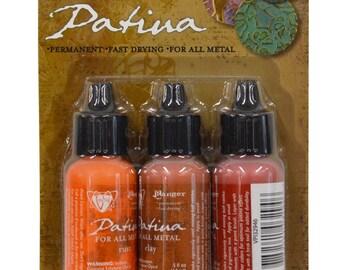 Vintaj® Ranger Patina™ Inks Rusted Hardware Rust Cinnabar & Clay Jewelry Making Kit - V-34803