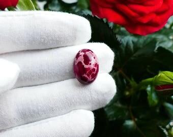 18 mm Rose Jasper Cabochon, Red Jasper Cabs