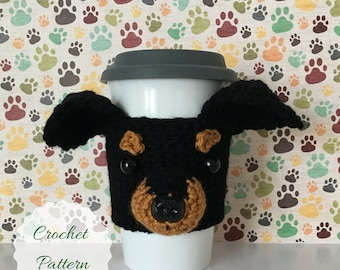 Crochet Dog Pattern - Dog Crochet Pattern - Crochet Pattern Dog -  Mug Cozy Pattern - Amigurumi Puppy - Amigurumi Dog - Crochet Pattern