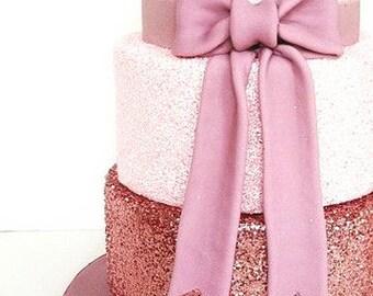 Rose Gold Cake Glitter | Fondant Wedding Cake Glitter, Edible Sprinkles (E044)