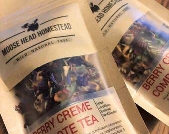 Berry Creme Compote - loose leaf tea, fruit tea, herbal, no caffiene, hand-blended