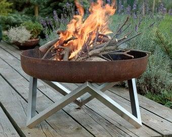 Steel Fire Pit YANARTAS (63cm diameter)