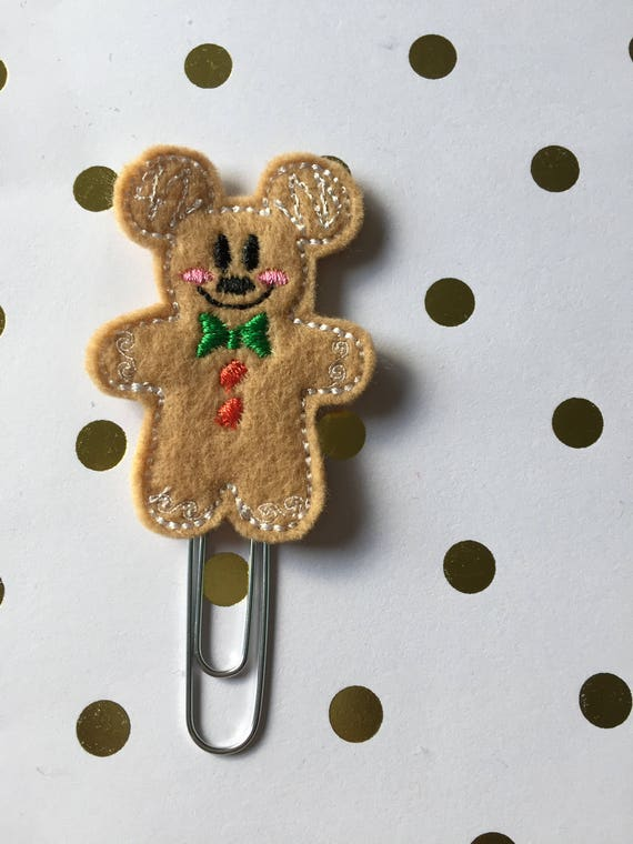 Full Body Ginger Mouse planner Clip/Planner Clip/Bookmark. Gingerbread Planner Clip. Ginger Boy Planner Clip. Christmas Planner Clip