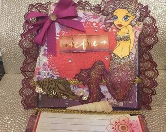 Mermaid Easel Card • Be Free ( 8 x 6.5 in)