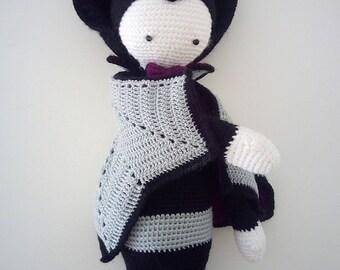 Plush/Stuffed vampire handmade crochet - giant Amigurumi sweet vampire