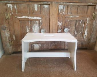 wood stool vintage stool bathroom step stool foot stool wooden step stool