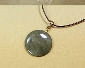 Protection pendant, Golden Sheen Obsidian necklace, Protection Jewelry, Protection necklace, Negativity Neutralizer, InfinityCraftArts