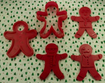 Tovolo Gingerbread Boy 5 Pc. Plastic Christmas Imprint Cookie Cutter Set