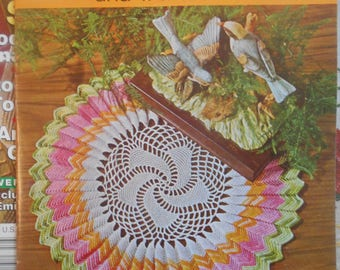 Doilies Knitted Crocheted and Tatted, Star Book, Pattern Leaflet #228, 1970s