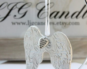 Angel Wing Ornament, Memorial Ornament, Sympathy Gift, Bereavement Gift, Loss of Loved One, Sign from Heaven, Condolence Gift, Christmas