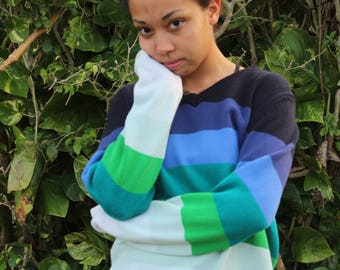 Blue Green Color Palette Sweater