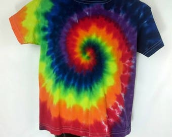Rainbow tie dye, Children's tie dye, Tie dye t-shirt, Rainbow t-shirt, Children's t-shirt, Kids rainbow t-shirt, Tie dye, 3-4 years t-shirt
