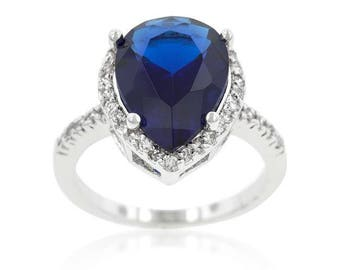 majestic pear royal wedding ring 75 carat kate middleton princess diana inspired sapphire royal duchess - Princess Kate Wedding Ring